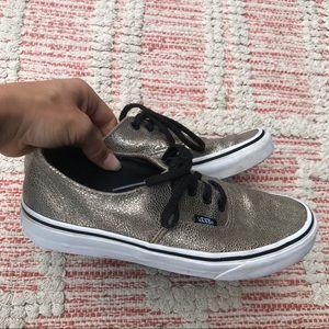 Vans metallic leather shoes